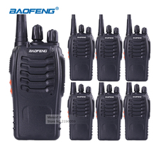 6pcs BaoFeng 888s Walkie Talkie with Headset Long Range 2 Way Radios Rechargeable Business Ham Radio Communicator HF Transceiver(China)