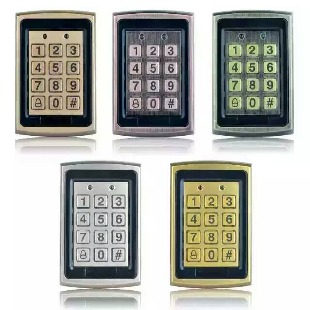 Five Color Optional Metal Keyboard Water-Proof IP68 Door Access Control System <br>