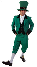 Free shipping Irish Leprechaun + Hat Boys and mens Fancy Dress St Patricks Kids Childs Costume Outfit(China)