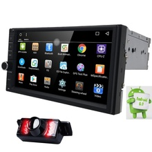 Capacitive Android6.0 3G Wifi Car Monitor GPS Navigation 2din Stereo Radio GPS Bluetooth USB Built-in map mic Mirror-link Camera