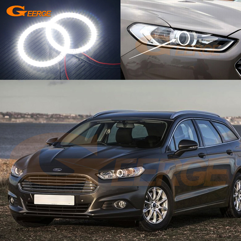 For Ford Mondeo Fusion 2013 2014 Excellent led Angel Eyes Ultra bright illumination smd led Angel Eyes Halo Ring kit<br>