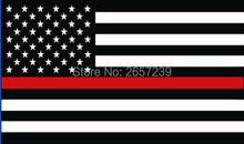 Thin Red Line United States Flag 3x5FT banner 100D 150X90CM Polyester brass grommets custom66, Free Shipping