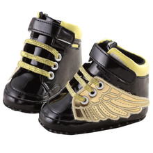 2017 Lovely PU Leather Angel Wings Toddler Shoes Baby Boy Girl First Walkers Infant Prewalker Crib Boots Footwear 0-18M Sneakers