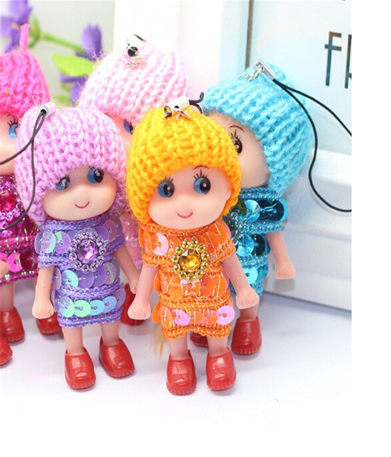 1PC Mini Doll Best Gift for Girl Confused Doll Key Chain Phone Pendant Cute Charm Bags Accessories High qulity Random