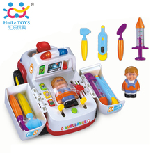 Emergency Ambulance Car Styling with Flashing and Music Doctor Kit Baby Toys Kids Electric Car Vehicles Learning & Education Toy