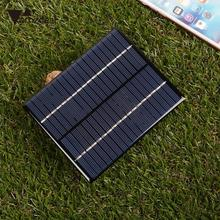 amzdeal New 2W 18V Polysilicon Solar Panel PV Plate Charge Battery Power Electronic Outdoor Travelling Powerbank DIY Module Cell(China)