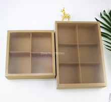 box with pvc window,plastic window paper Drawer cake box High grade Macaron/Moon cake box cookies biscuit packing 100pcs/lot