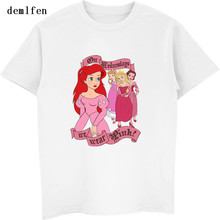 New Mean Princesses Cute Girl Design Men T Shirt Summer Short Sleeve Cotton Hipster Tops Brand Clothing Casual T-Shirt Tees(China)