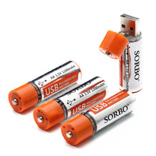 Hot Sale High Quality 4PCS SORBO 1.5V 1200mAh USB Rechargeable 1 Hour Quick Charging AA Li-po Battery(China)
