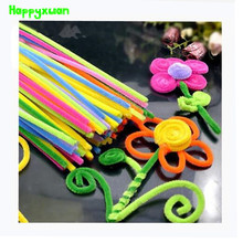 Happyxuan 2packs (200pcs) Multicolour Chenille Stems Pipe Cleaners Handmade DIY Art Craft Material kid Creativity handicraft Toy(China)