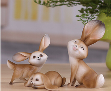 20167Rabbit resin animal crafts room furnishings creative gifts home decorations wine cabinet bookcase cute ornaments LH0288
