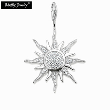 Large Pave Sun Pendant,Thomas Style Glam Fashion Good Jewelry For Men And Women,Ts Gift In 925 Sterling Silver,Super Deal(China)