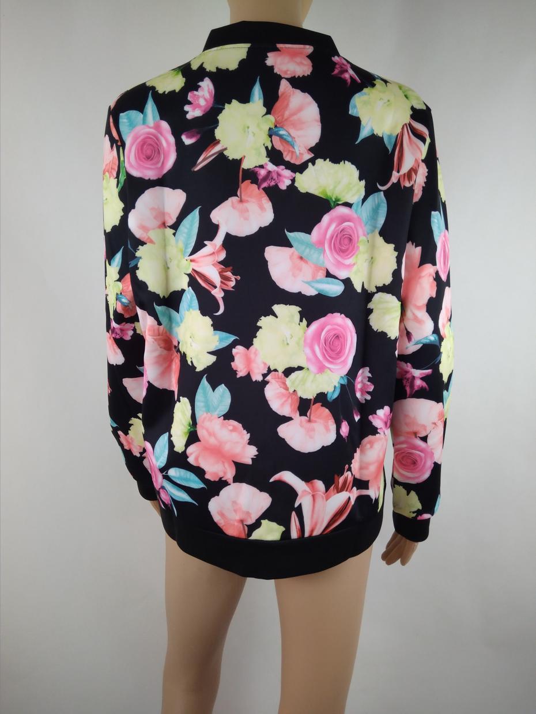 2017 Women Spring Summer Thin Jacket Coat Vintage National Ethnic Floral Print Lady Slim Coat Jackets Long-sleeved Jacket Female 8