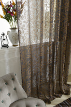 new arrival custom made white green coffee sheer window screening drape hook style  day  tulle sheer curtain