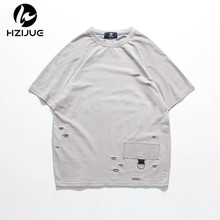 HZIJUE 2017 summer high street fashion short sleeve hip hop clothes Original Design tops Personality classic brand t shirts