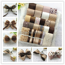 TC9 29 meters/set Elegant champagne coffee ribbon set diy hair accessory material mix set ribbon and lace(China)