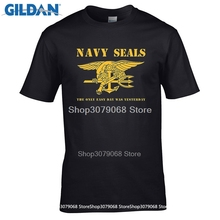 GILDAN t shirt design pattern Navy Seals Logo - The Only Easy Day Was Yesterday Premium T-Shirt(China)