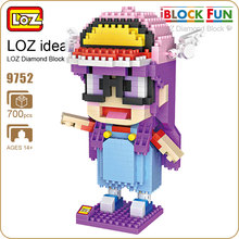 LOZ Diamond Blocks Anime Figurine Girl For Kids Dr Slump IQ Figure Arale Doll Toy Iblock Fun Building Bricks Pixel Toys Kit 9752(China)