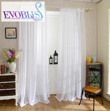 Morden tulle curtains for living room voile curtain for bed room white curtain sheers rideaux pour le salon voile curtains