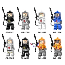 Single Fire-fighting Anti-chemical Clothers Zombie Collection Series Figures building blocks bricks toys for children(China)