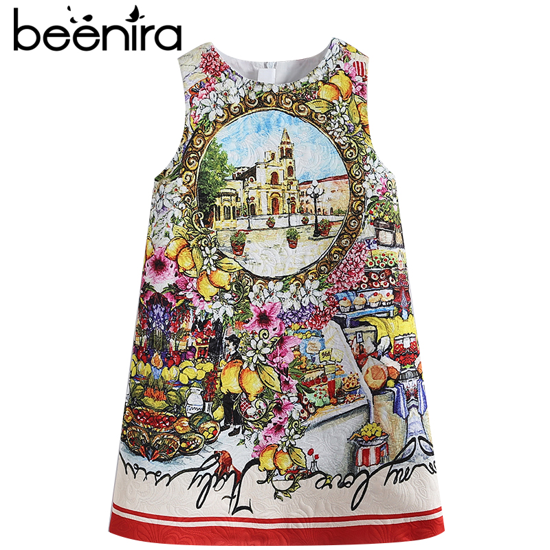 Beenira Children  Summer Dresses 2017 New European And American Style Kids Castle Sleeveless Party Dresses Girls 14Years Dress<br>