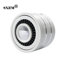 SXZM Surface mounted Dimmable 9W led COB downlight led lamp AC110V 220V ceiling spot light white/warm white with led driver