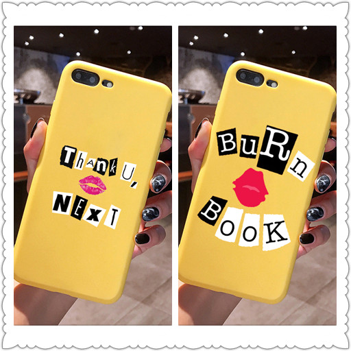 Thank U, Next Ariana Grande Candy Color TPU Case phone For iphoneX 7 8 XS XR XSMAX BURN BOOK Pink Red Yellow purple Cover