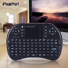 iPazzPort French Arabic English Russian Hebrew Mini Wireless Keyboard and Mouse for AndroidTV Box, Smart tv Intel Computer Stick
