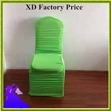50pcs green spandex wedding ruffled chair covers for event party free shipping(China)