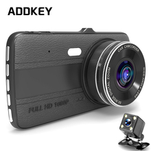 ADDKEY 4.0 inch IPS car dvr camera Dual Lens Dash Cam FHD 1080P with Rear view Auto Registrator Digital Video Recorder Camcorder