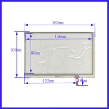 POST 7.1 touch screen 164*106 mm  welding NEW GLASS  for  GPS touch PANEL free  shipping  XWT628
