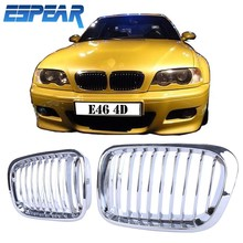 1set Chrome Front Grills Kidney Grilles For BMW E46 320i 323i 325i 328i 330i 318i 4-Door Sedan Wagon  #943
