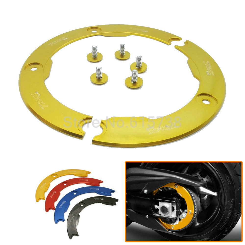 5 colors optional Motorcycle Parts CNC Aluminum Transmission Belt Pulley Protective Cover For Yamaha T MAX 530 2012-2015<br><br>Aliexpress