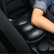 2017 Universal Car Seat Armrests Cover Auto Vehicle Center Console Arm Rest Seat Box Pad Protective Case Soft PU Mats Cushion(China)