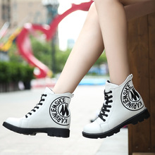 2017 New Fashion Boots Women Shoes for Lady Ankle Boots White Brand Women's Boots for Winter(China)