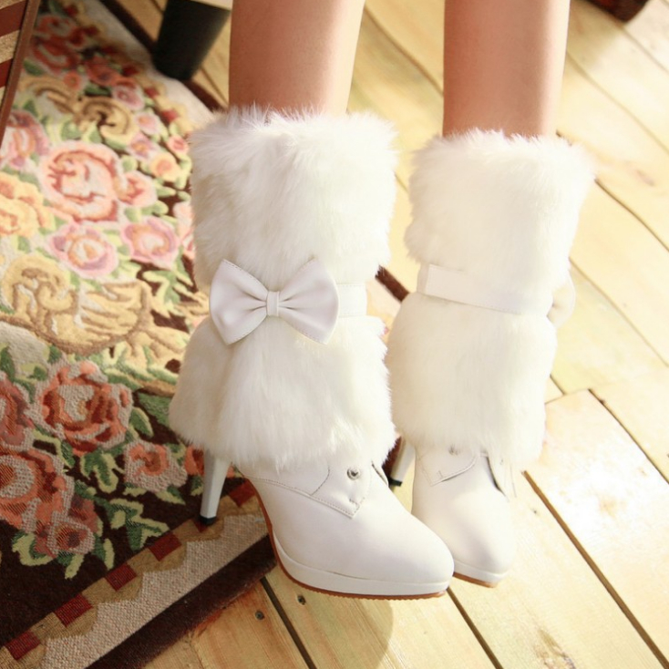 Winter new warm thick with thin female boots women snow boots<br><br>Aliexpress