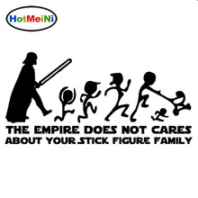 HotMeiNi 20*10cm The Empire Does Not Cares About Your Stick Figure Family Star Wars Car Sticker JDM Decal Styling Black/Sliver(China)