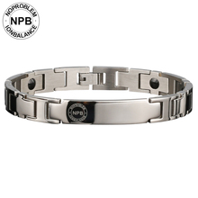 Noproblem titanium Ion jewelry antifatigue metal magnetic power bracelets 44 infinity silver man stainless steel choker bracelet(Hong Kong)