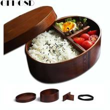 GFHGSD Wooden Lunch Box Handmade Rice Bowl Lunchbox Eco-friendly Bento Lunch Boxes Wood Sushi Box Container Food Container(China)