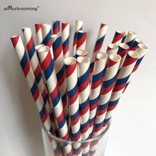 25 Biodegradable Paper Drinking Straws Striped Birthday Party Wedding Colorful Drinking Straws Vintage Wedding Party Decoration