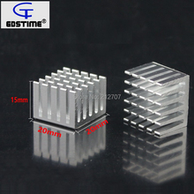 10 Pieces/lot Gdstime 20x20x15mm DIY CPU IC Heat Sink Extruded Cooler Aluminum Heatsink