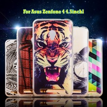 Phone Back Cover Soft TPU zenfone 4 A450CG bag Silicon Case For Asus zenfone4 4.5 inch Protective Shell cell phone bags Housings