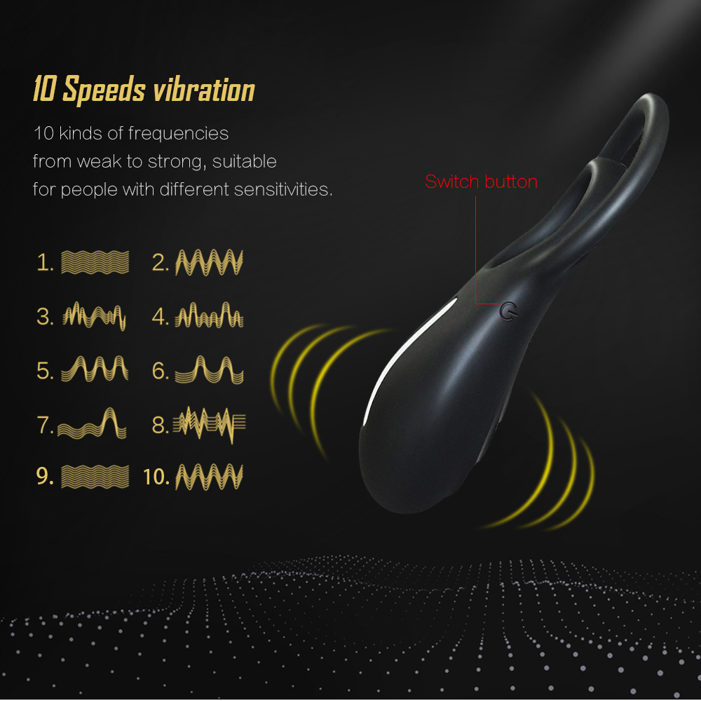 _04Silicone USB Penis Clitoris Ring Vibrator for Men Delay Rings Penis Cock Sexy Toys for Male Sex Products Ring Vibrator for Woman