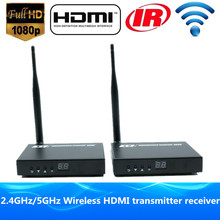 HD Video Audio Transmission HDMI Wireless Transmitter Receiver HDMI Sender Wireless Extender 60m/200ft 1080P With Loop out & IR