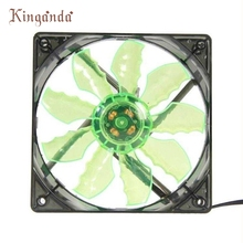 Good Sale Green 15 LED Light Quite 120mm DC 12V 4Pin PC Computer Case Cooling Cool Fan Mod, Silent Fan Free shipping May 31