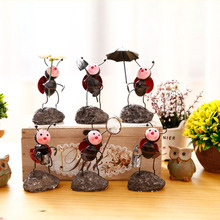 Rural Ant Ladybird Crafts Home Decor Ornaments Iron Handicraft Desktop Accessories Home Office Decoration Crafts Lovely Gifts
