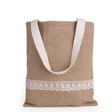 Fresh Girl Canvas Tote Bags Women Forest Style Lace Decoration Canvas Shoulder Bags(China)