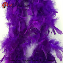 new 2 meters Gaza chicken Turkey Feather Boa Feather Birthday Party for wedding decorations wedding dress accessories 1 pc