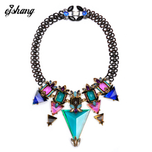 Hot Sale ZA Brand New Fashion Necklace & Pendant Vintage Jewelry Collar Chain Accessories Statement Necklace For Women(China)