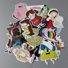 25Pcs/lot Funny Anime 2017 Gravity Falls Sticker For Car Laptop Luggage Skateboard Motorcycle Decal Kids Toy Sticker(China)